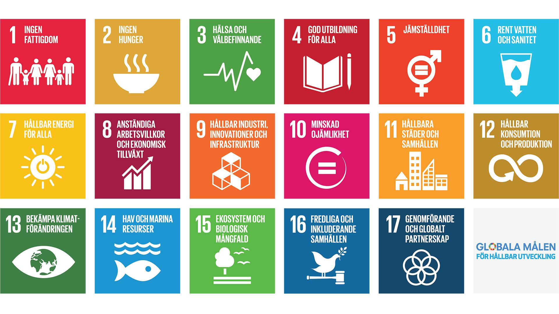 Globala målen för hållbar utveckling, SDGs