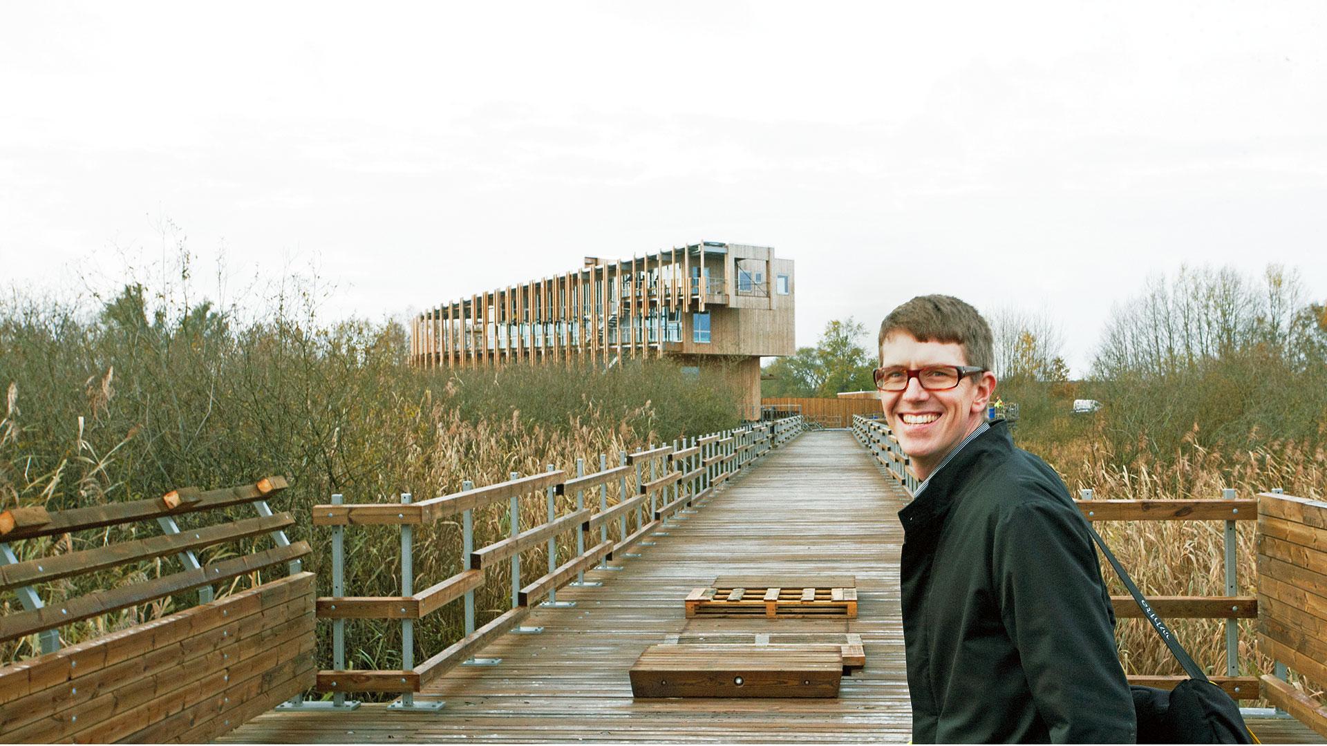 Fredrik Pettersson, White Arkitekter AB har ritat naturum Vattenriket.