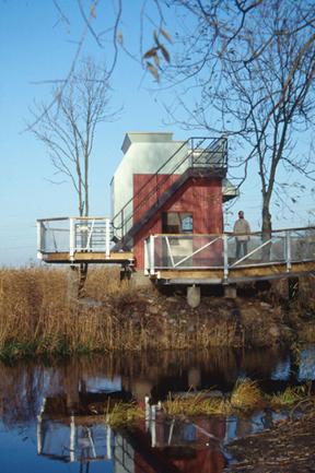 Kanalhusets omvandling från färskvattenintag till utemuseum 9.