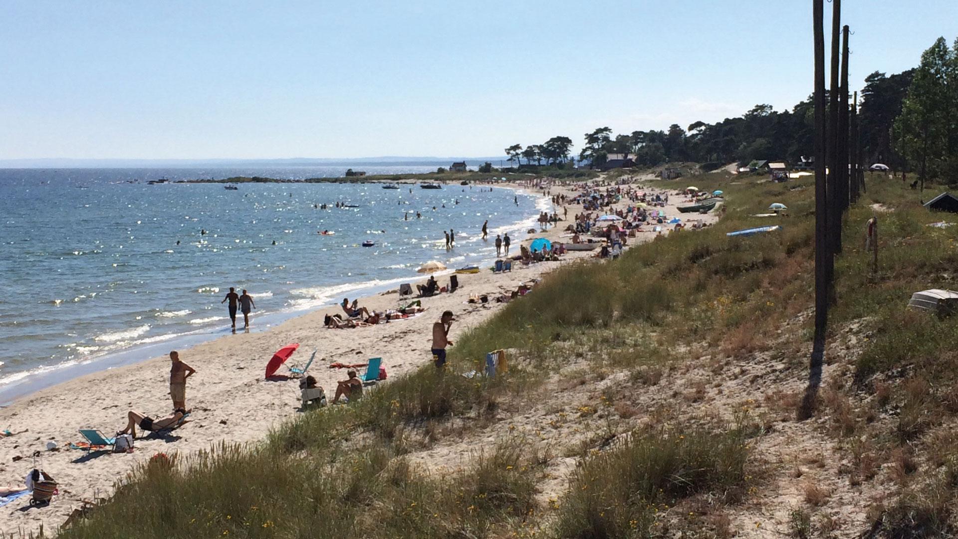 Äspets strand. Foto: Karin Magntorn