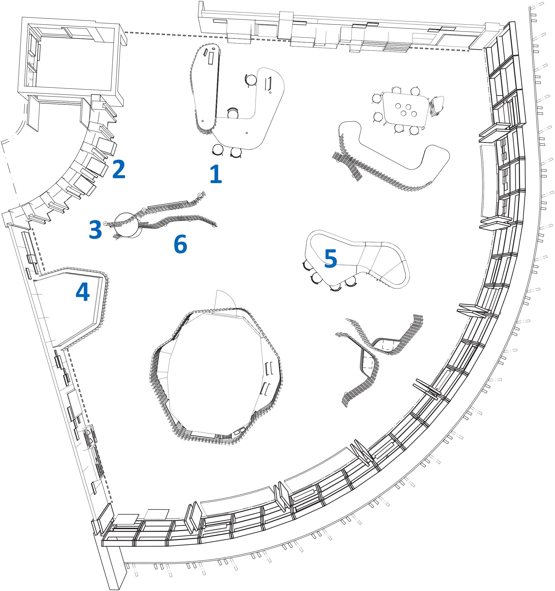 Karta över audioguider i naturums utställning
