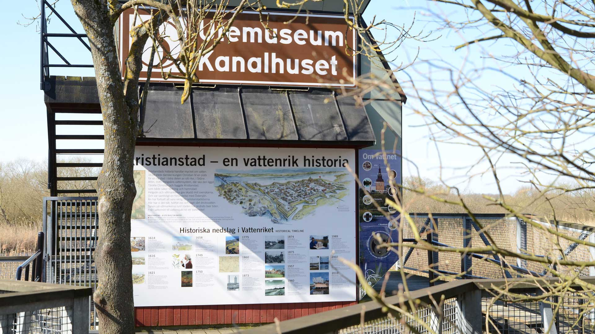 Utemuseum Kanalhuset. Foto: Mattias Roos, Kristianstads kommun