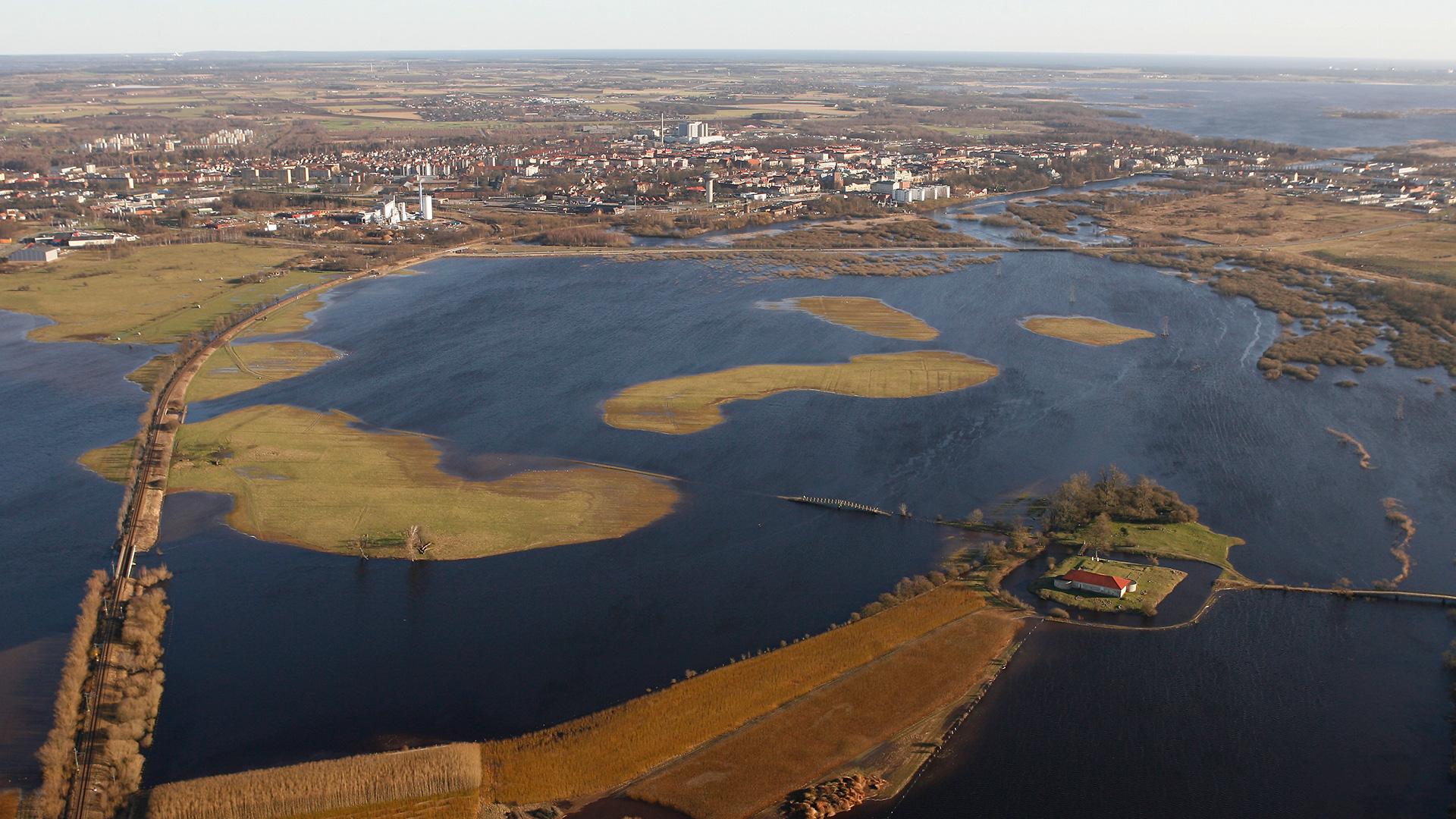 Högvatten Isternäset och Lillö. Foto: Patrik Olofsson/N
