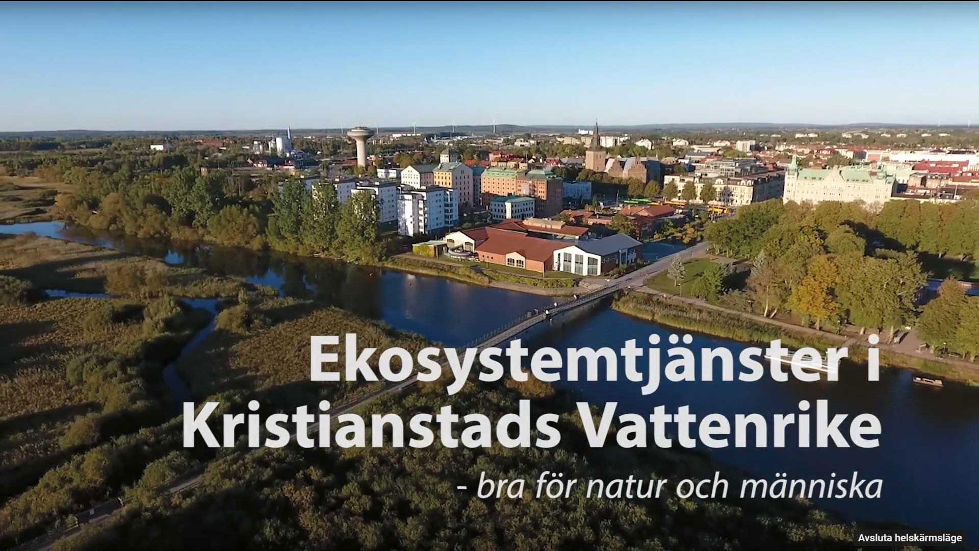 Filmen Ekosystemtjänster i Vattenriket