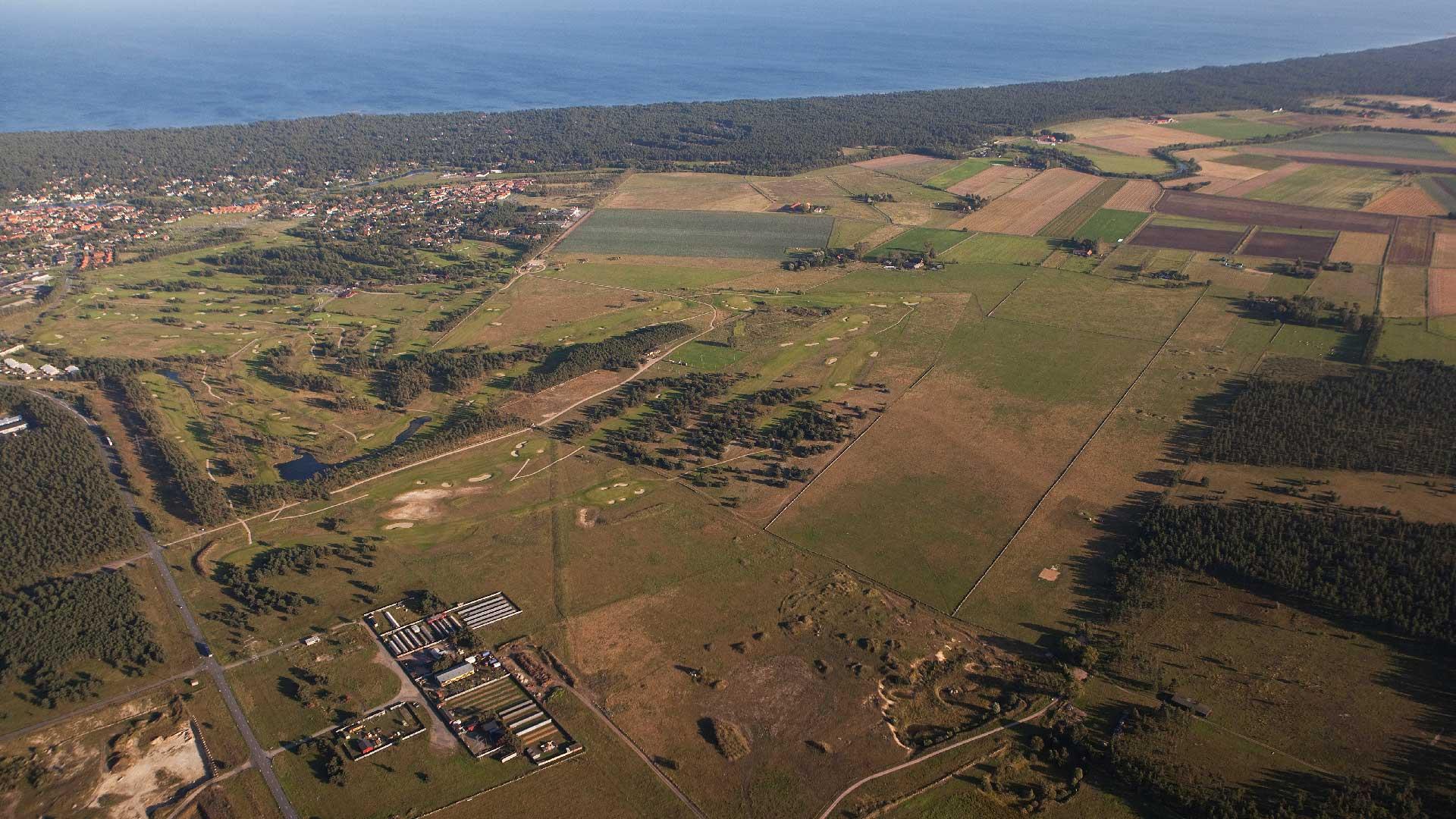 Flygbild över de sandiga markerna kring Åhus. Foto: Patrik Olofsson/N