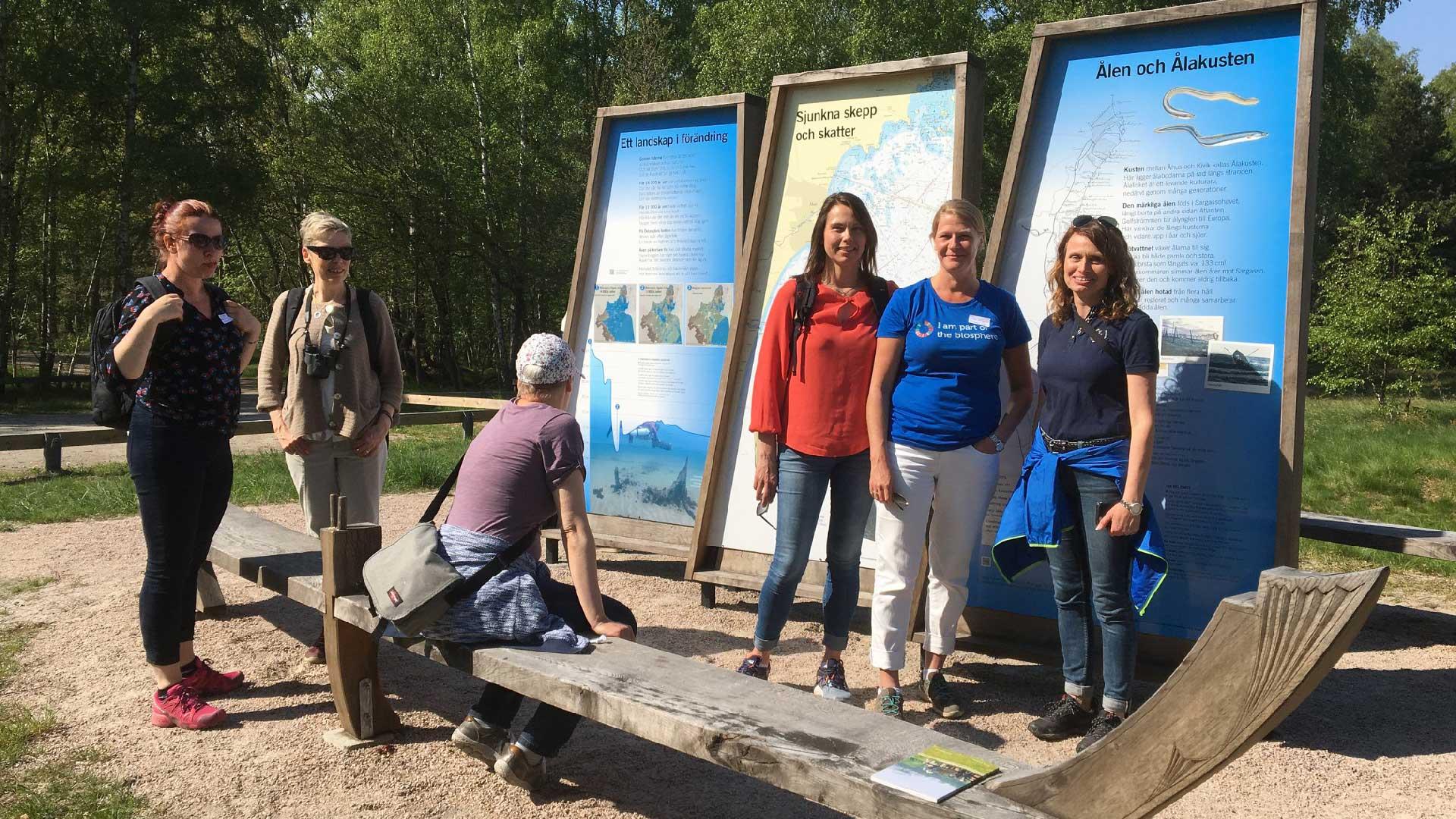 Biosphere for Baltics deltagare besökte Utemuseum Äspet vid havet.