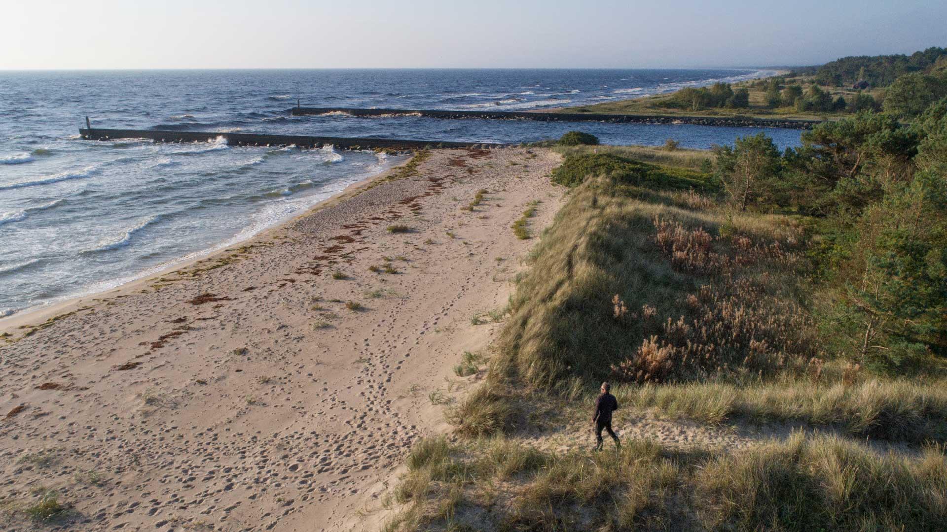 Vid Gropahålet mynnar Helge å i Hanöbukten och Östersjön. Foto: Patrik Olofsson/N