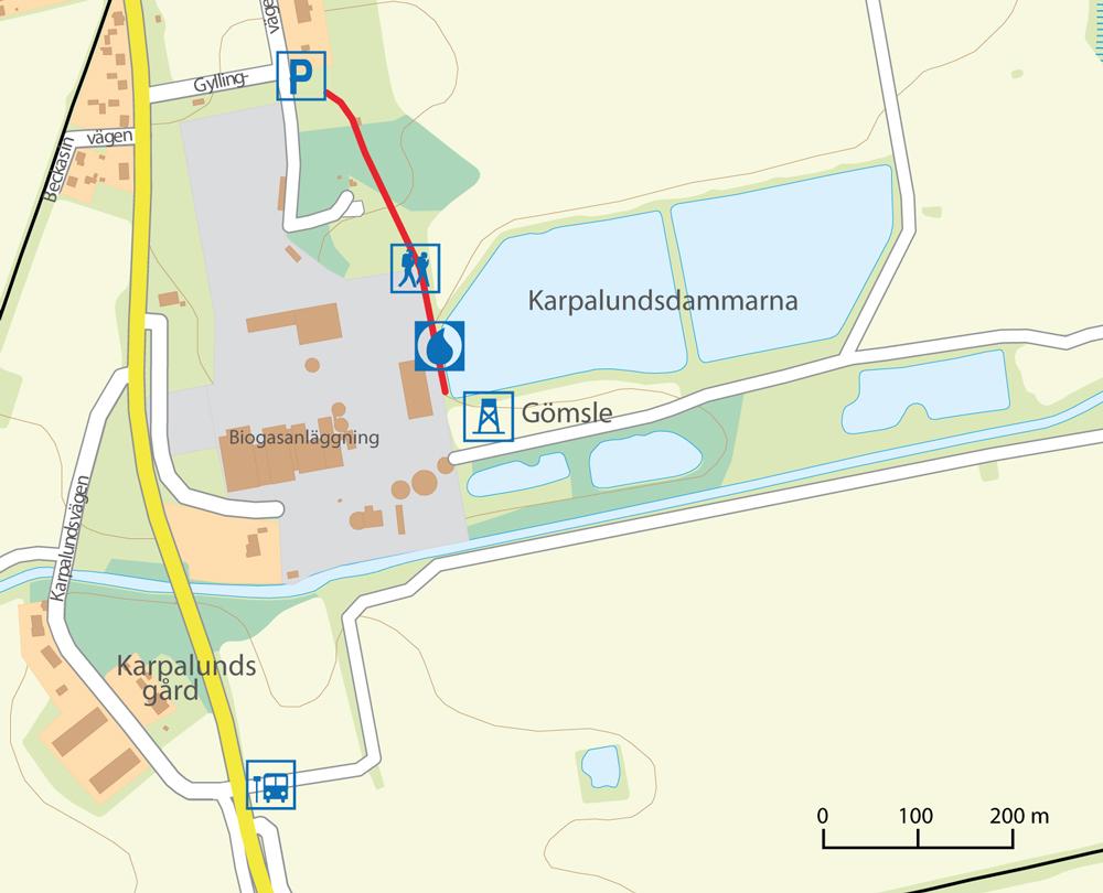 Karpalund platskarta