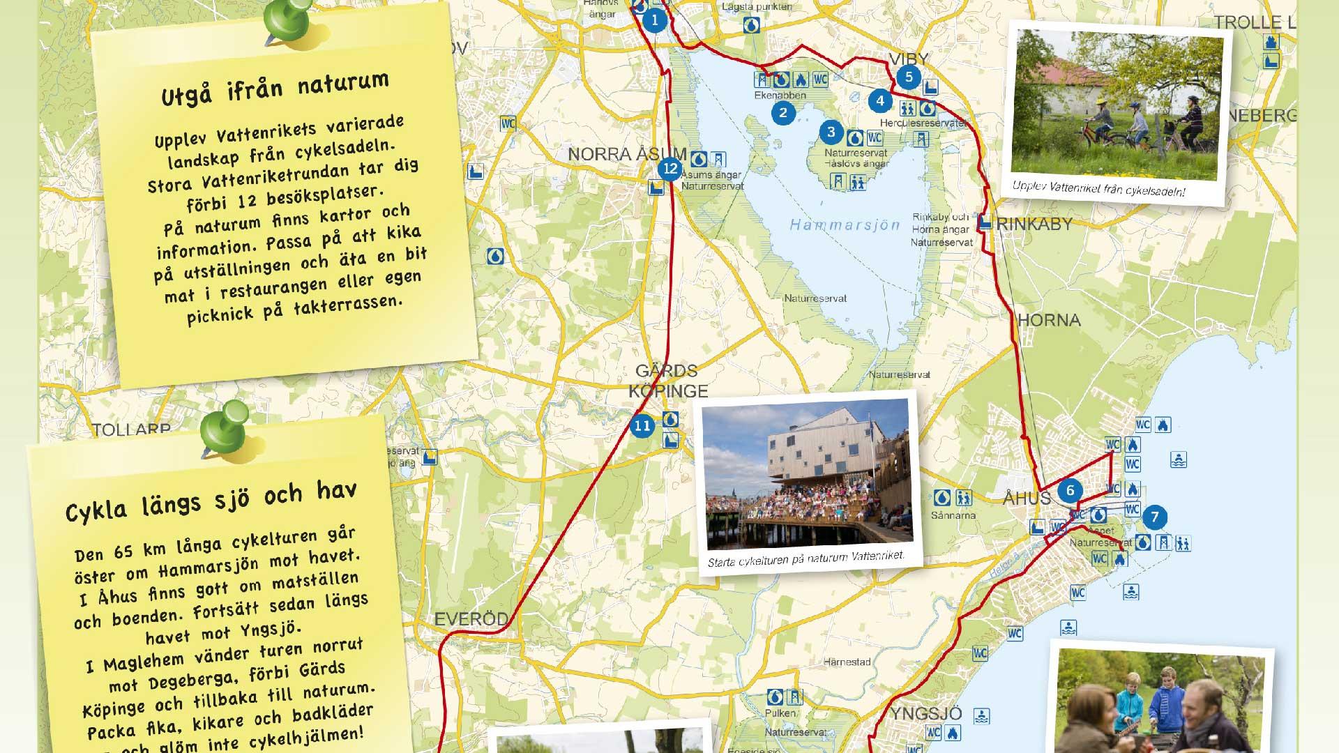 Karta Cykla i Vattenriket
