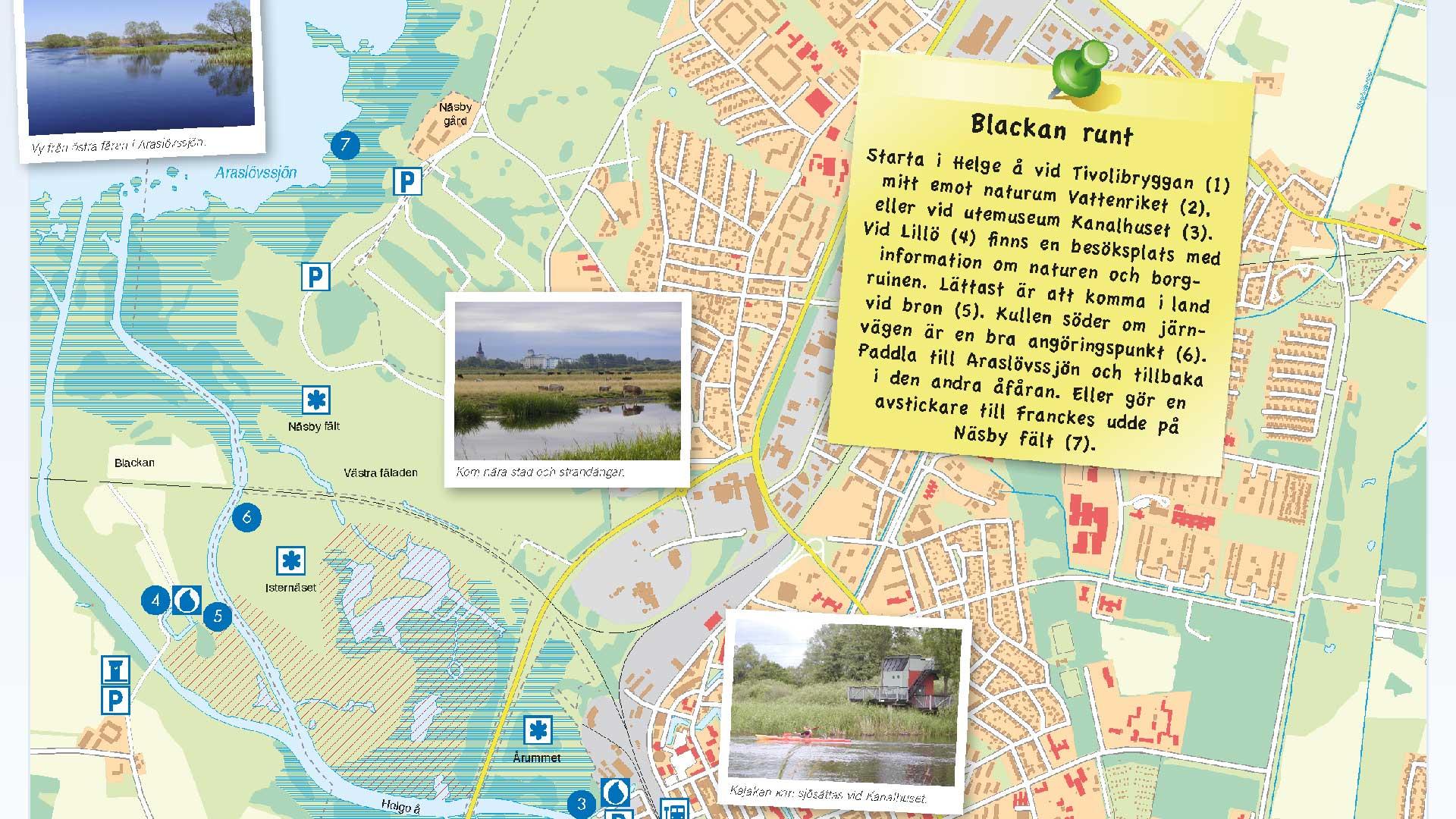 Karta Paddla i Vattenriket med tips och råd.