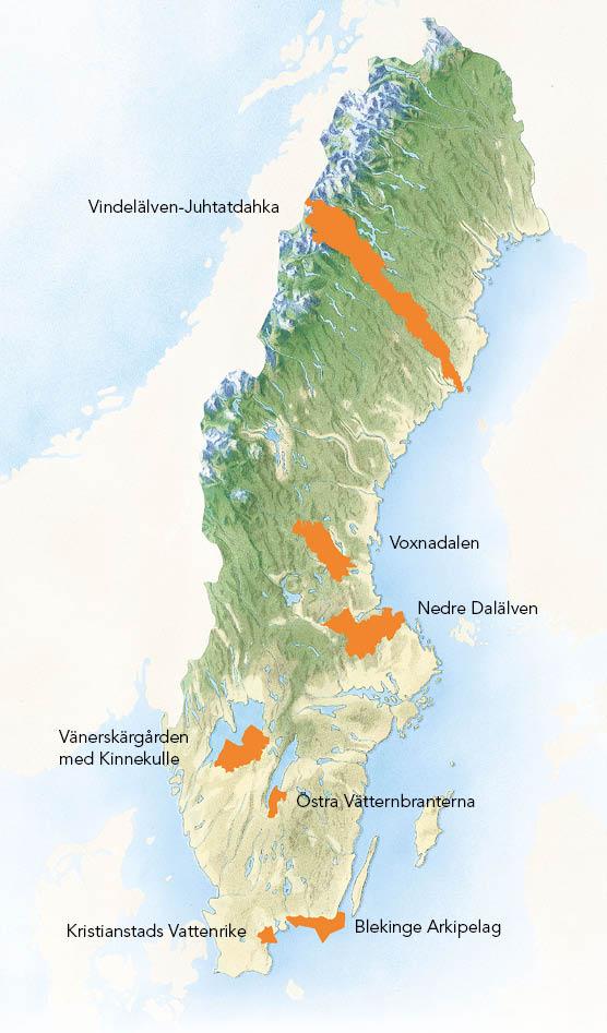Biosfärområden i Sverige