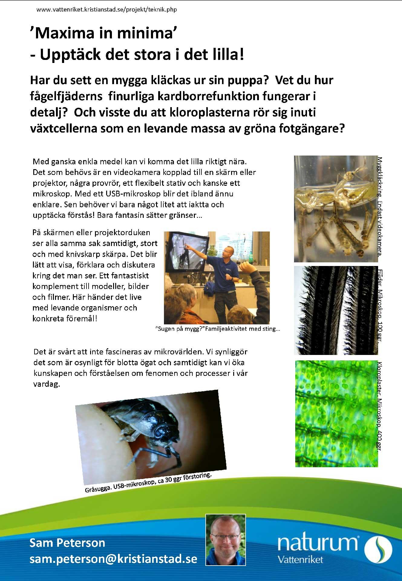 Microskop med video