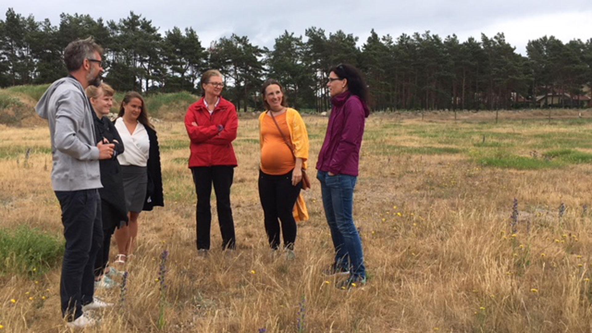 Forskningsgruppen Lucsus från Lunds universitet besöker Transval Foto: Carina Wettemark