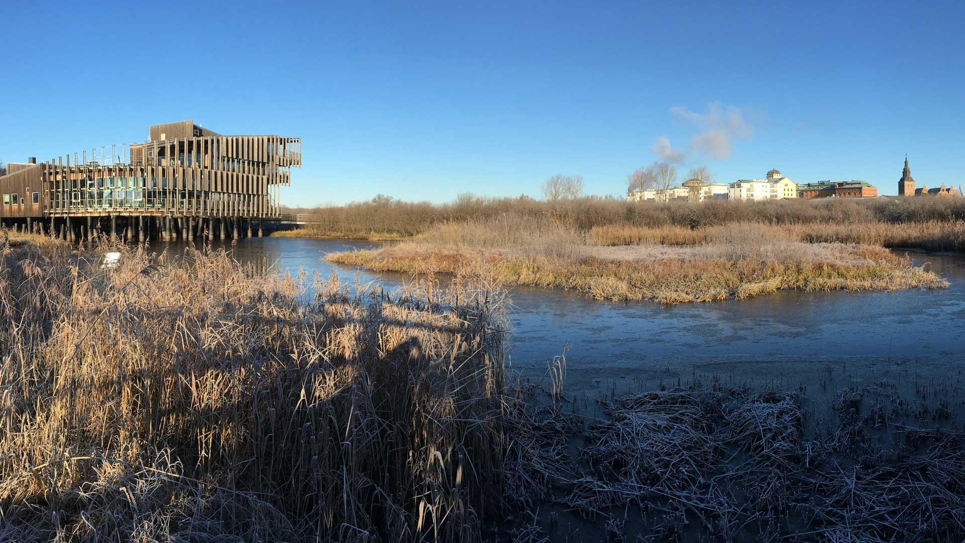 Naturum på vintern. Foto: Åsa Pearce