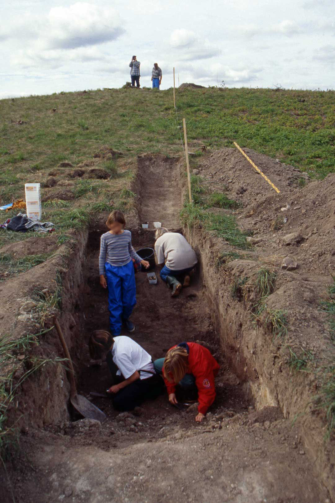 Utgrävningen av Härlövsborg 1996