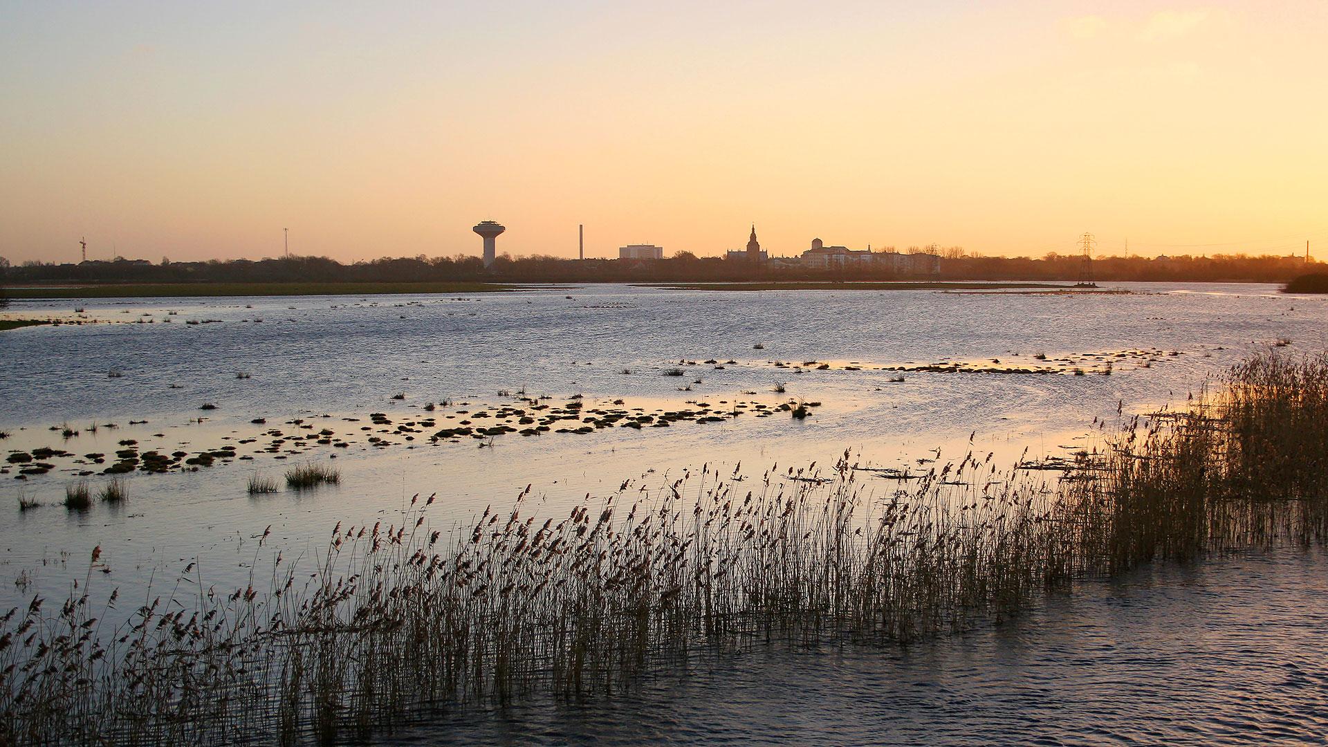 Vattenriket 30 år 2019. Kristianstad sett rån Lillö. Foto Patrik Olofsson/N.