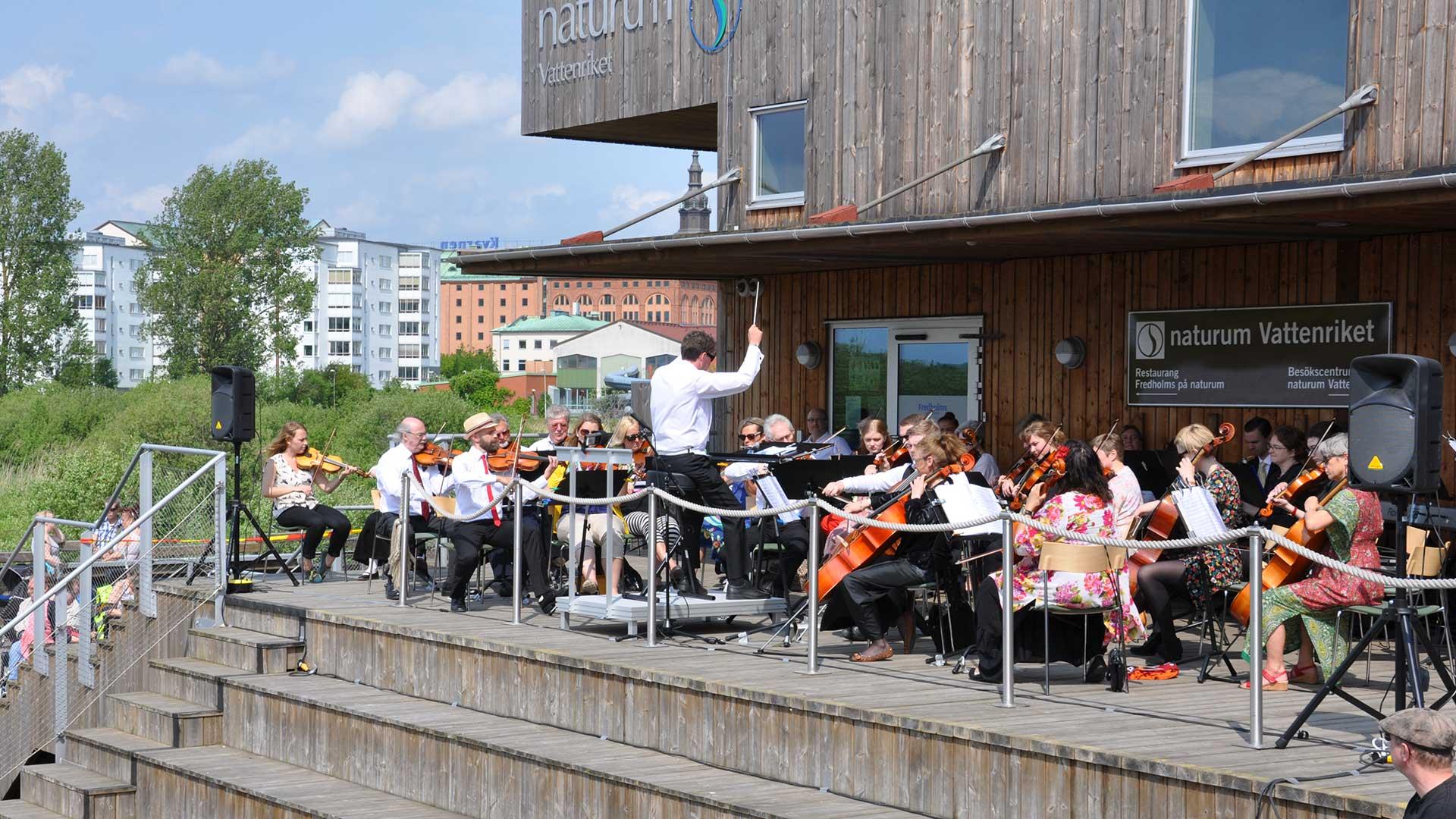 Christianstad symfoniker ger Händel i redet. Foto: Karin Magntorn