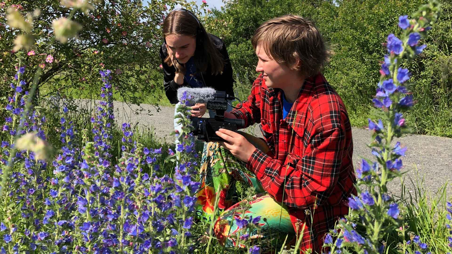 Naturfilmläger på naturum. Foto: Åsa Pearce