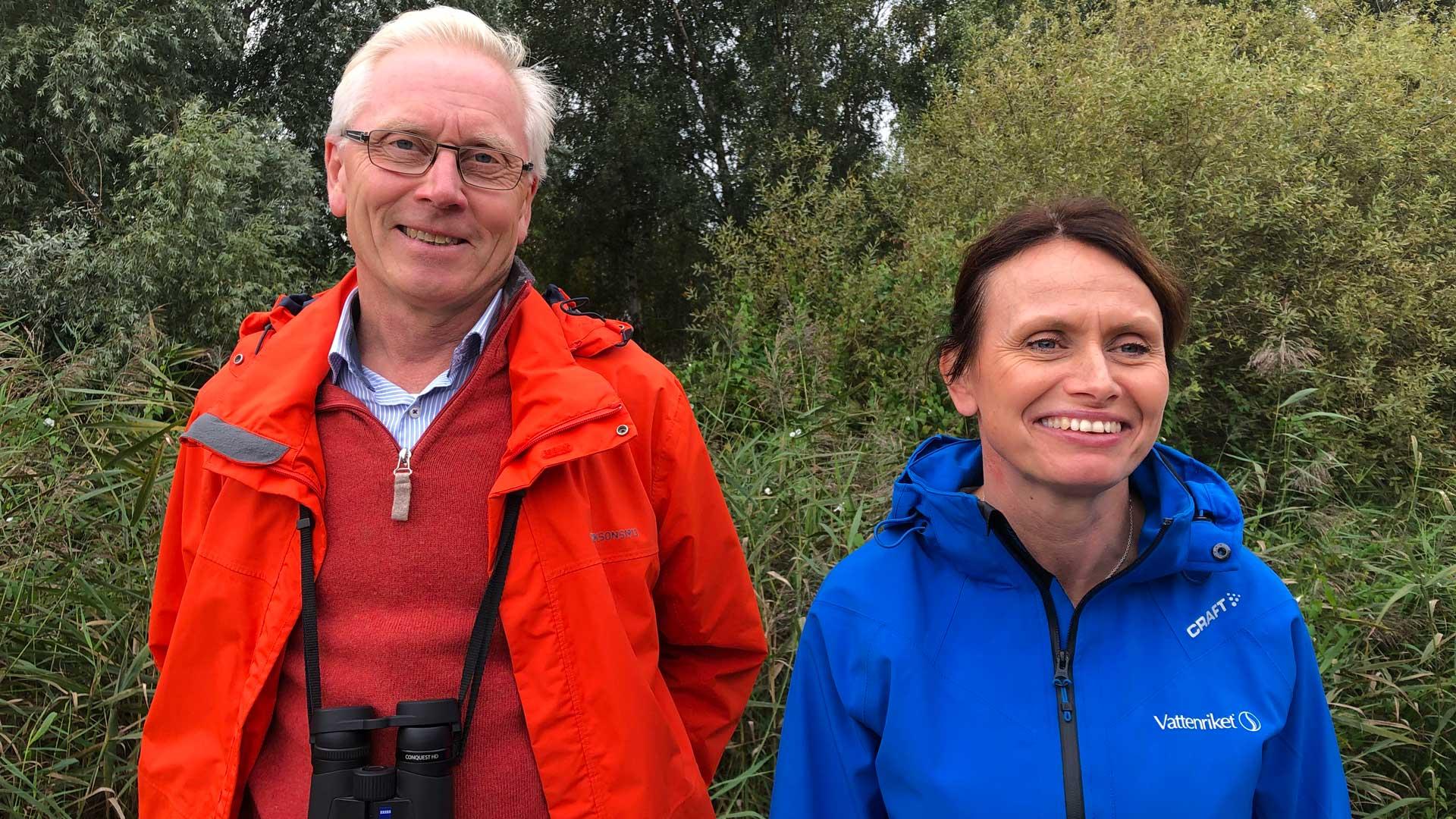 Jens Weibull och Carina Wettemark