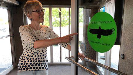 Karin öppnar Coronasäkert Naturum