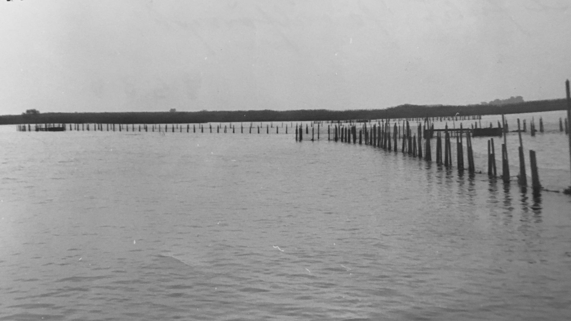 Gamla fiskeredskap i Hammarsjön