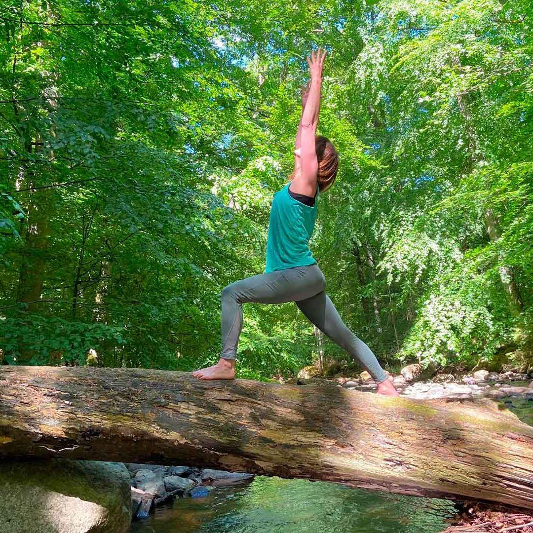 Yoga i Åbjär. Foto Brita Torstensdotter Larsson