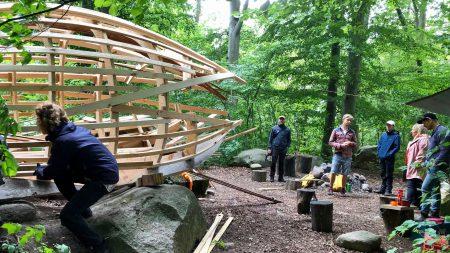 Studenter Bygger Vindskydd I Österslöv