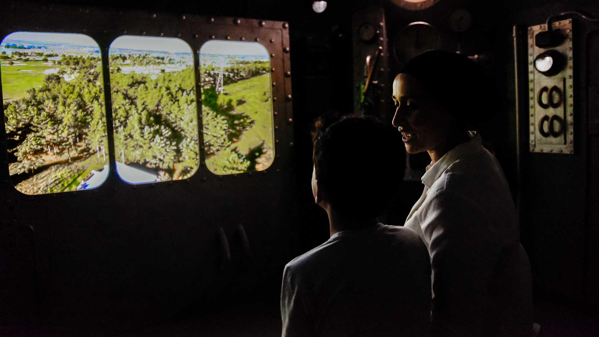 I simulatorn Opteryx åker du över och under ytan i Vattenriket. Foto Jennie Ahlqvist